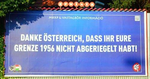 Danke Österreich (!!!), dass Ihr eure Grenze 1956 nicht abgeriegelt habt!